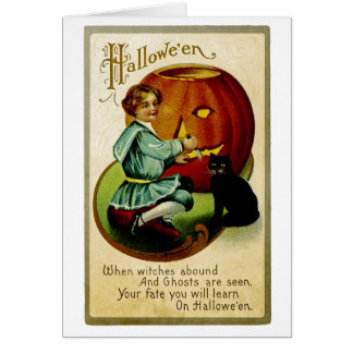 When Witches Abound at Halloween Card