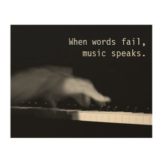 When words fail, music speaks. Fine art photograph