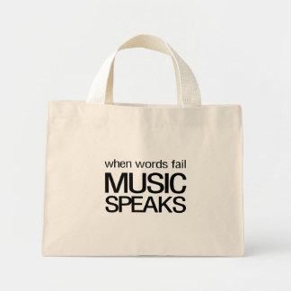 When Words Fail Music Speaks Mini Tote Bag