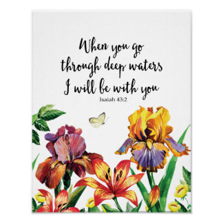 When You Go Through Deep Waters I Will Be With You Poster