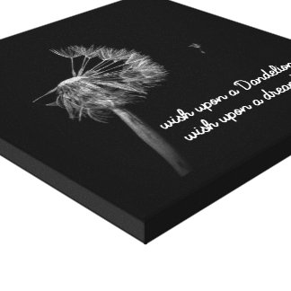 When you wish upon a Dandelion. Canvas Print