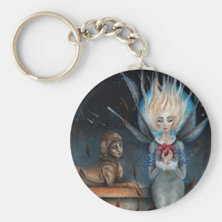 When you wish upon a star basic round button key ring