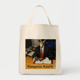 When your Lawyer is a Kangaroo Grocery Tote Bag