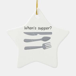 Whens Supper ? Ceramic Ornament