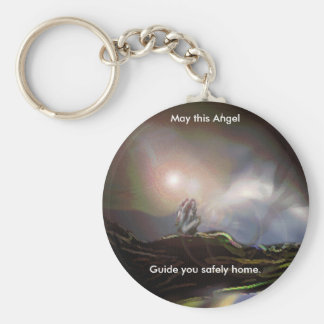 Where Angels Fear To Tread. Basic Round Button Key Ring