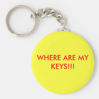 WHERE ARE MY KEYS!!! BASIC ROUND BUTTON KEY RING