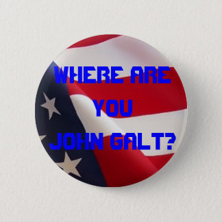 Where are you John Galt? 6 Cm Round Badge