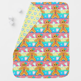 Where Cookies Smile & Love Flurries Baby Blanket