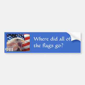 Where did all of the flags go? bumper sticker
