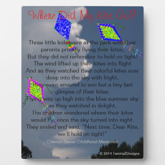 Where Did My Kite Go Childhood Memories Easel Photo Plaques