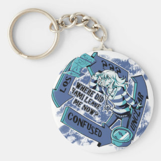 """""""Where Did Yami Leave Me Now?"""" keychan Basic Round Button Key Ring"""