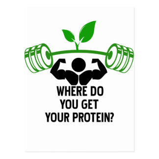 Where do you get your protein postcard