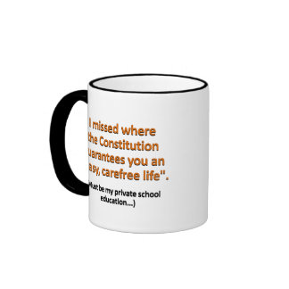 Where does it say that in the Constitution Mugs