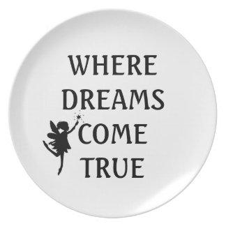 WHERE DREAMS COME TRUE FAIRY PLATE
