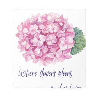 Where flowers bloom notepad
