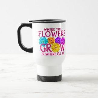 Where Flowers Grow Travel Mugs