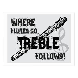 Where Flutes Go - Treble Follows Postcard
