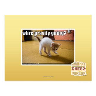 Where gravity going? postcard