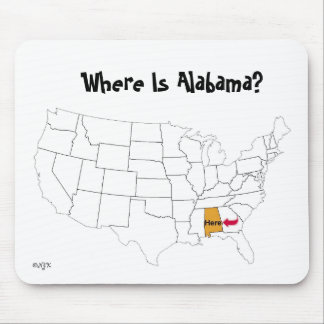 Where Is Alabama? Mouse Pad