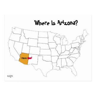 Where Is Arizona? Postcard