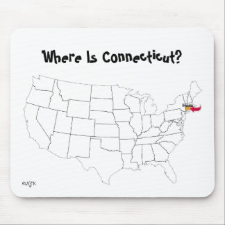 Where Is Connecticut? Mouse Pad