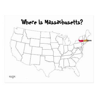 Where Is Massachusetts? Postcard
