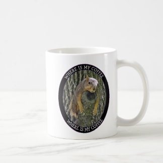 Where is my Coffee,Tired Squirrel Photo Coffee Mug