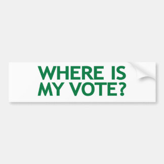 where is my vote (Iran Election) Bumper Sticker