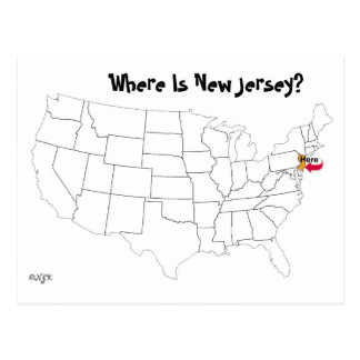 Where Is New Jersey? Postcard