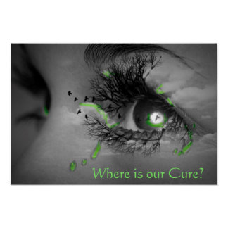 Where is our Cure? Lyme Disease Awareness Poster