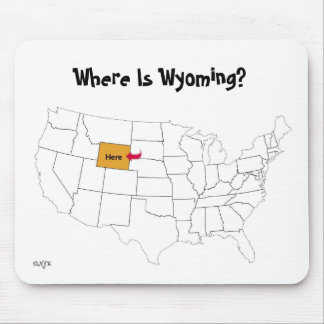 Where Is Wyoming? Mouse Pad