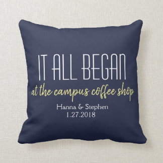 Where it All Began Love Story Pillow