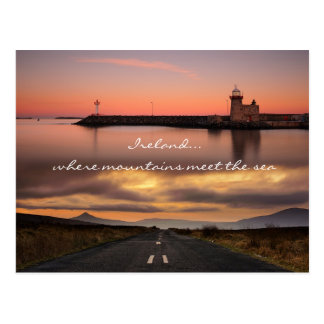 Where mountains meet the sea postcard
