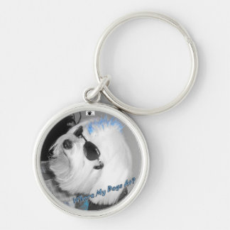 Where My Dogs At? Silver-Colored Round Key Ring