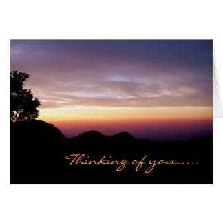 Where My Heart Belongs/Mountain Sunset Silhouette Card