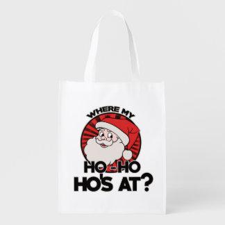 Where my ho ho ho's at reusable grocery bag