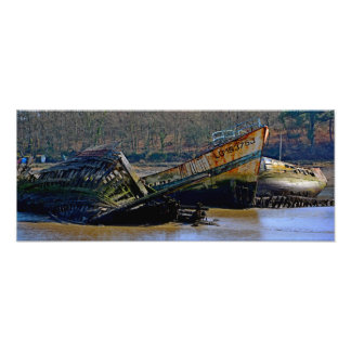 Where old boats go to retire photo print