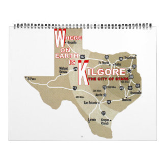 Where On Earth is Kilgore Calendar