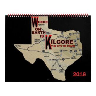 Where on Earth_Kilgore 2018 Calendar