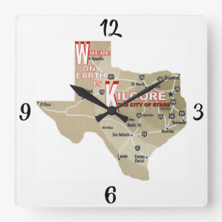 Where on Earth_Kilgore Square Wall Clock
