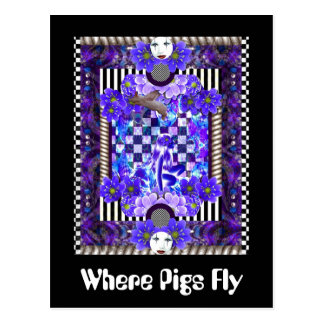 Where Pigs Fly Postcard