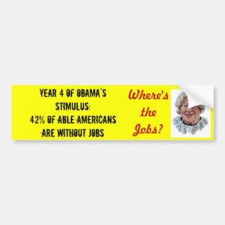 Where s the Jobs Bumper Sticker