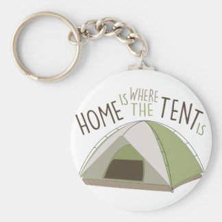 Where Tent Is Basic Round Button Key Ring