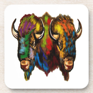 Where the buffalo roam beverage coaster