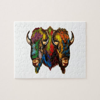 Where the buffalo roam jigsaw puzzle
