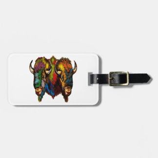 Where the buffalo roam luggage tag