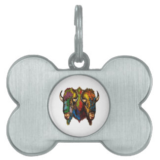 Where the buffalo roam pet tag