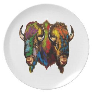 Where the buffalo roam plate