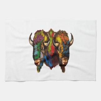 Where the buffalo roam tea towel