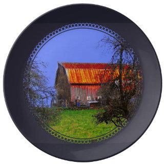 Where the Cows Go home Porcelain Plates